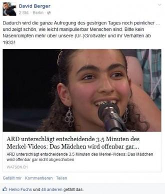 Berger-Logik: ARD wie Nazis, aber bitte nicht die Nase über Nazizeit rümpfen?