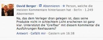 Berger stellt fest und fragt