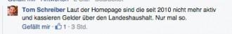Aufmerksamer Bürger und schwuler SPD-Politiker mutmaßt und verdächtigt GLADT. Tom Schreiber auf der Facebook-Seite von Queer.de im Threadverlauf zum Thema.