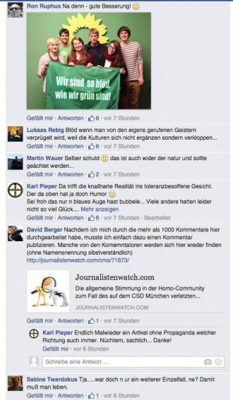 Surft auf dem Shitstorm, David Berger postet zusammen mit Nazis gegen Marcel Rohrlack
