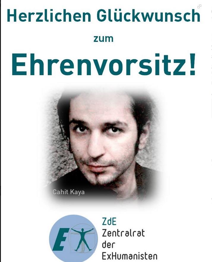 """>Im Namen aller Humanisten möchte ich mich bei Ihnen, Herr Rohlack, für den dumpfen Mob, der vom """"Ex-Humanisten"""" Cahit Kaya losgetreten wurde, entschuldigen. Eine Auseinandersetzung mit den Themen Homophobie, Islam, Islamismus und deren zusammenhänge sieht anders aus. Zu Ihrer Information: Dieser Wiener Komiker ist nunmehr Ehrenvorsitzender einer neuen Ex-Kampagne. Vielleicht erleichtert es Ihnen zu einem lässigen Umgang mit diesem Mob hier...< (Sascha Schulze auf dem FB-Profil von Marcel Rohrlack)"""