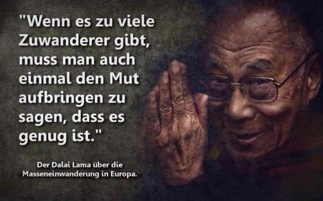 Fremdenfeindlich motivierte Zitat-Fälschung zeigt Dalai Lama-Porträt