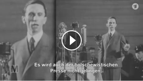 creenshot: Monitor-Video: AFD-Höcke und NSDAP-Goebbels im Vergleich