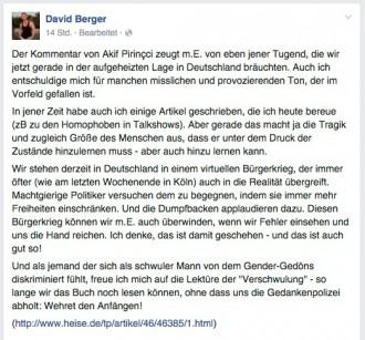 David Berger bemüht die Querfront-Masche: Sich pseudokritisch an rechten Rand herranranzen:
