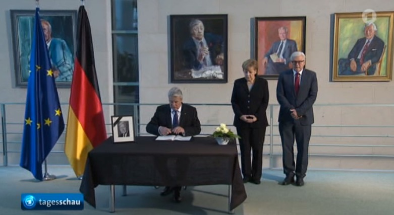 Gauck, Merkel, Steinmeier kondolieren Helmut Schmidt