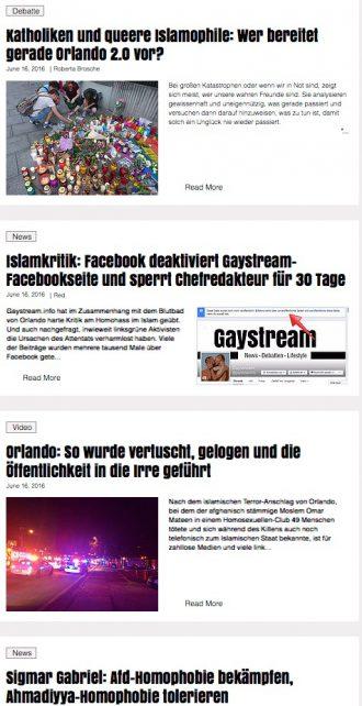 Gaystream: Kalkulierte Empörung mit Primitiv-Polemik