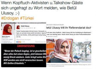 Kopftuch-Apologetin Betül Ulusoy schwelgt im menschenfeindlichen AKP-Wording