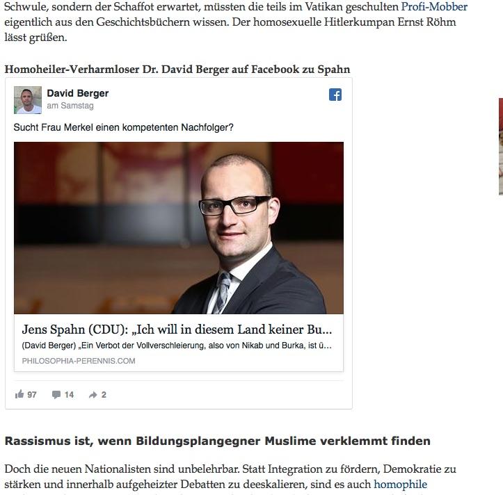 Publizist Berger kürt Politiker Spahn zum Merkel-Nachfolger