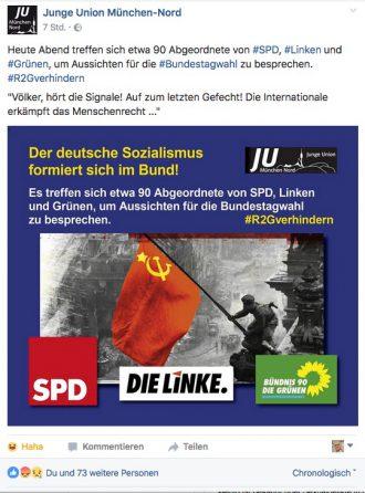 Ohne SPD, Grüne und die Linke bliebe CDU AFD