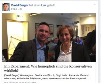Naziverharmloser Dr. Bavid Berger und rechte Darknet-Datendiebin Beatrix von Storch (AfD) machen gemeinsame Sache gegen die liberale Demokratie.