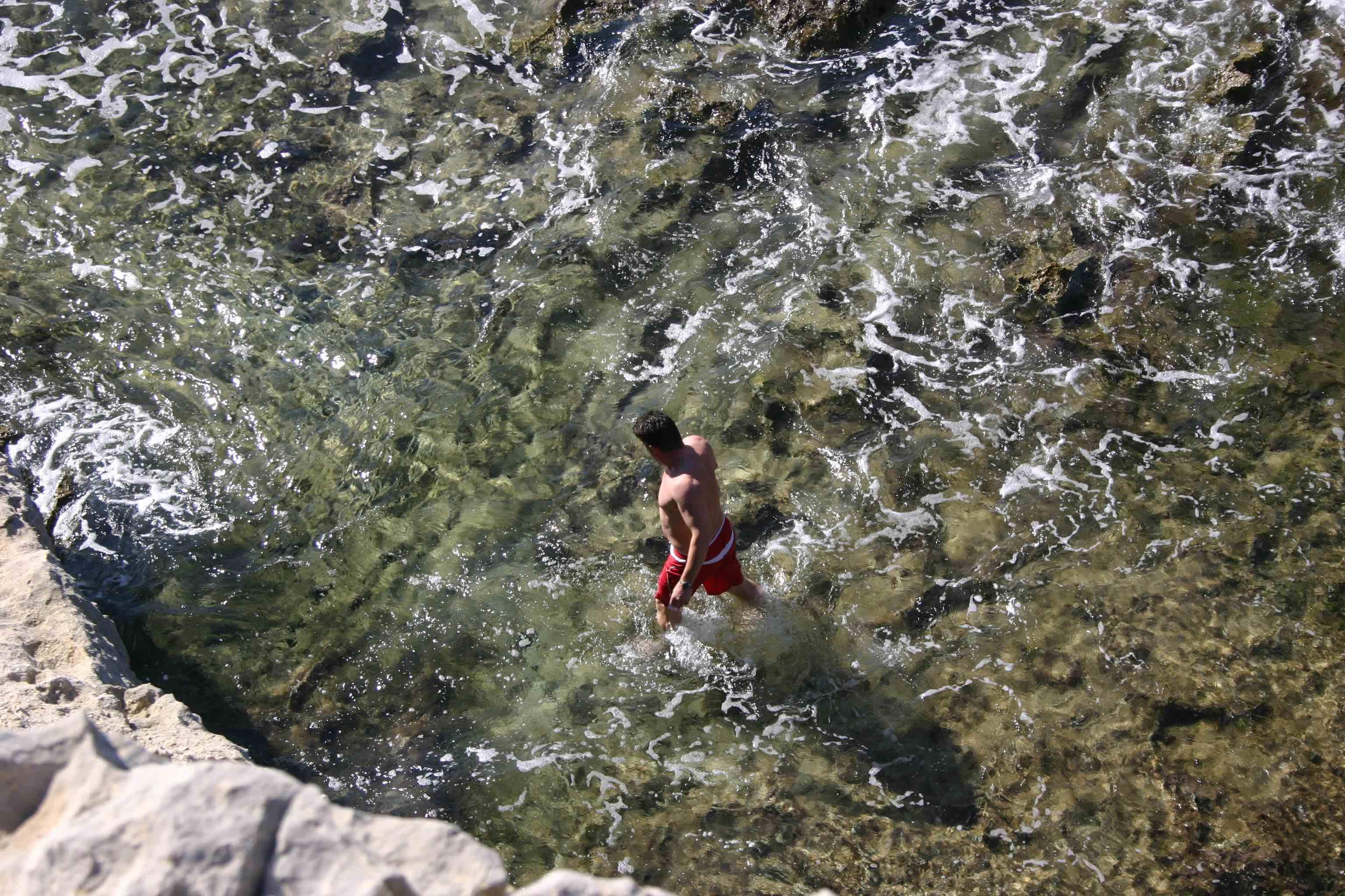 Badebucht beim ehemaligen Felsentor