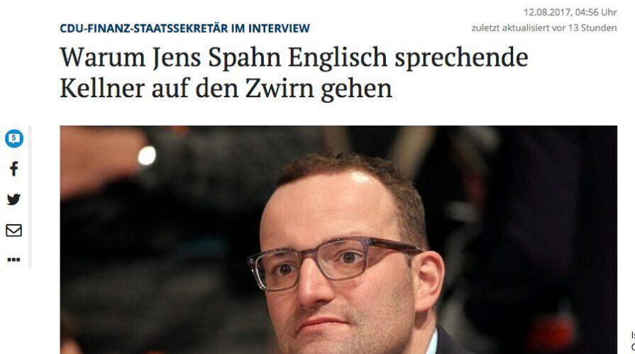 Jens Spahn ist die politische Nutte des deutschen Kleinbürgertums.