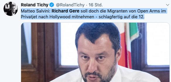 Roland Tichy, Matteo Salvini,