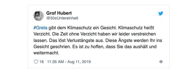 Klimaleugner sind frustriert: Kluger Tweet auf Twitter zum Thema Greta Thunberg und der Hass, der ihr seitens Rechtspopulisten und AfD-Anhängern entgegenschlägt