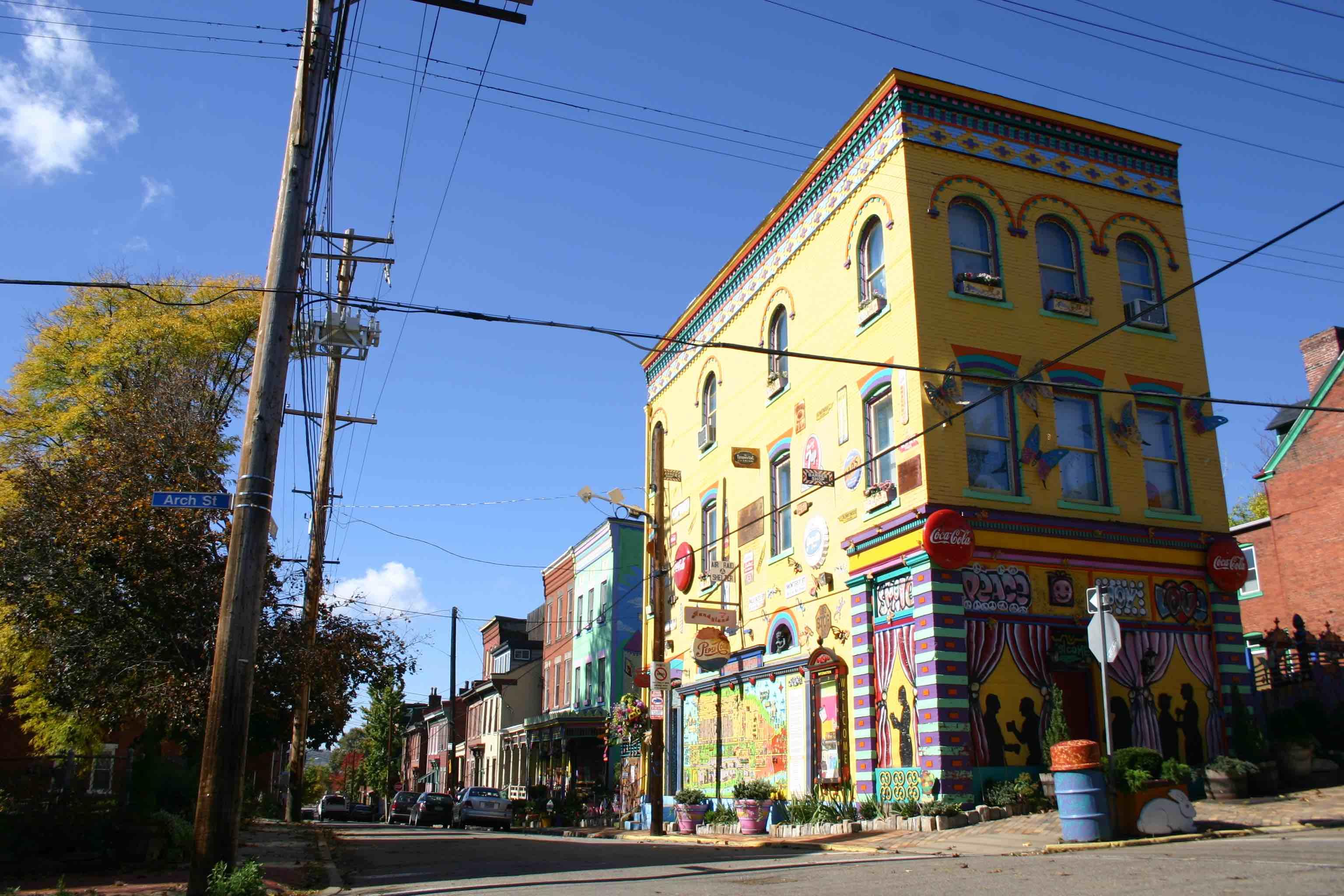 Arche Street, Künstlerinnen-Neighbourhood (Stadtviertel) in Pittsburgh