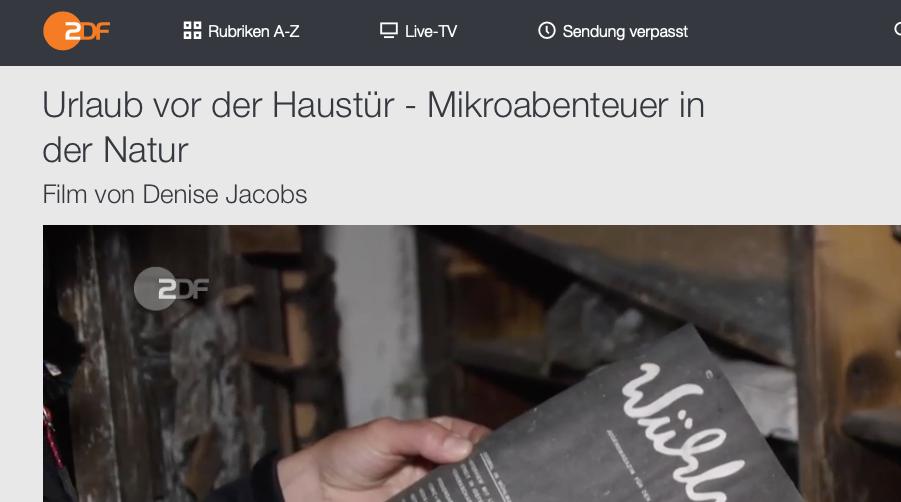 Abenteuer in deiner Umgebung, Miniurlaub vor der Haustür. ZDF-Reportage zum klimafreundlichen Kurzurlaub
