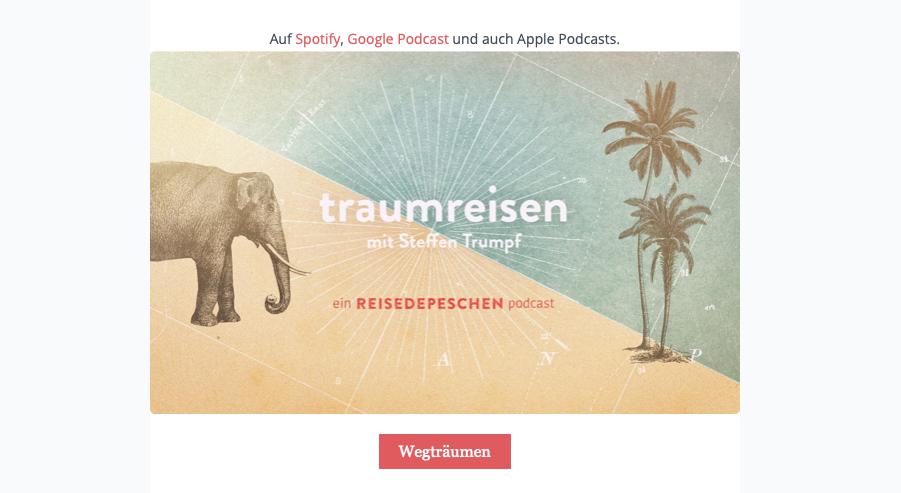 Wir lauschen den Podcast Traumreisen