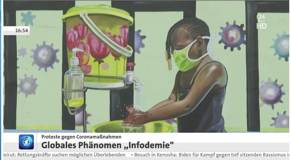Bildschirmfoto beim fernsehguckend, über ARD-Thema Infodemoe bei Tagesschau 24 gesehen