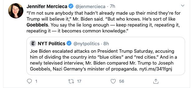 Nazivergleich: Joe Biden Vergleicht Donald Trump mit Joseph Goebbels