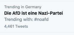 Twitter-Trending: Die And ist eine Nazi-Partei