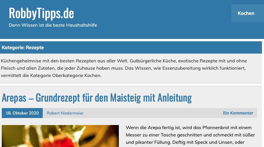 Neuer Ratgeber-Blog RobbyTipps.de