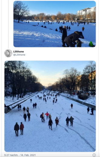 Eislaufen auf dem Landwehrkanal