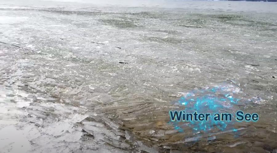 Winter am See. Screenshot aus eingebetteten Youtube-Video