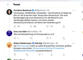 Klimawandel: Twitter-Experten widersprechen der Grünen-Politikerin Baerbock energisch