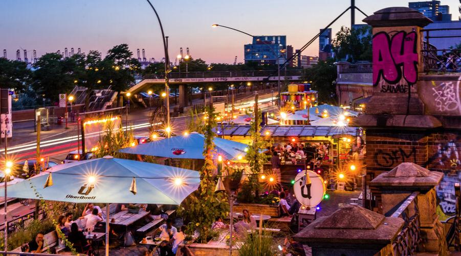 Überquell-Terrasse in Hamburg: Hamburg Marketing Gruppe
