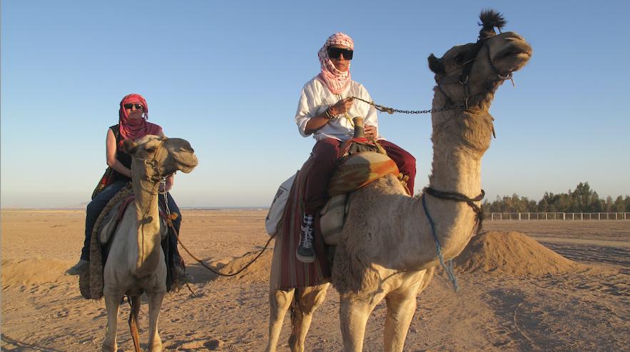 Touristen in Ägypten im Jahre 2010