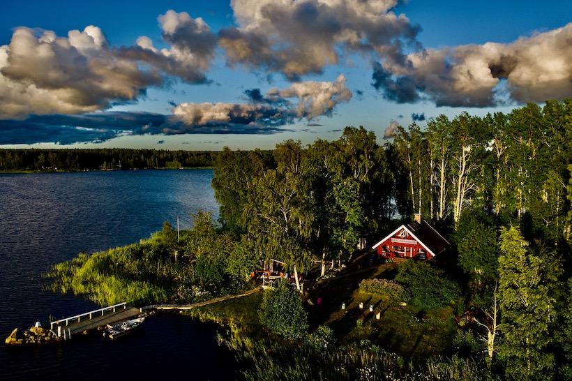Majorsgrund liegt in der Nähe der Stadt Vaasa
