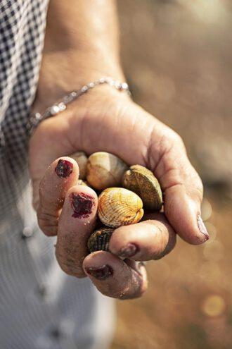 Die Mühsal einer Muschelsammlerin in Tavira an der Algarve, in Portugal / Foto: Anja Jahn
