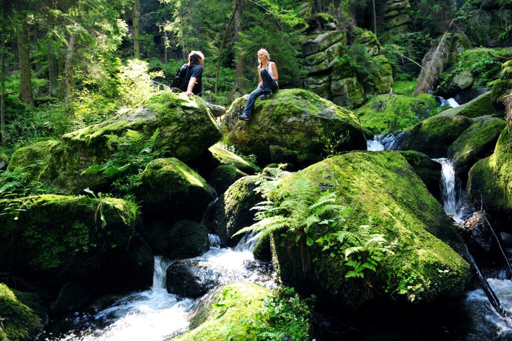 Den Lohnbachfall im südlichen Waldviertel umgibt ein rund elf Kilometer langer, aber leichter Rundweg.