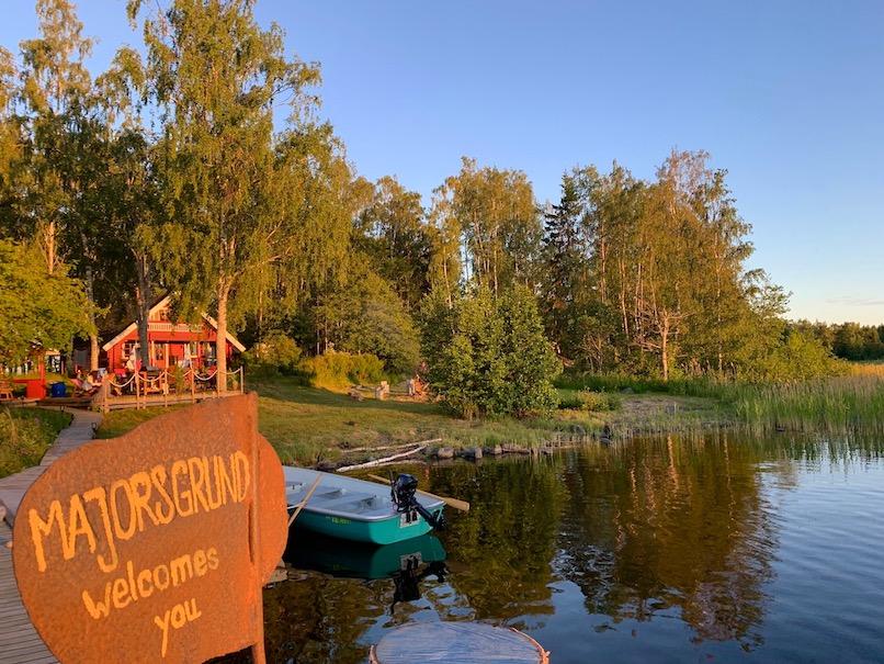 Willkommen auf Majorsgrund: Die grüne Insel liegt in der Nähe der Stadt Vaasa,