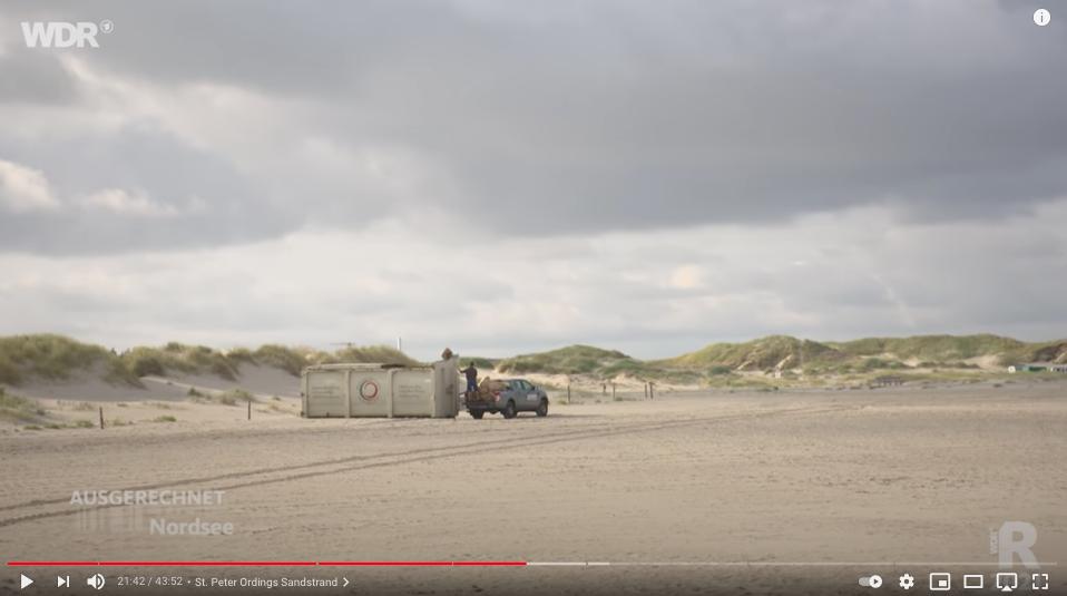 400000 Tonnen Müll landet in den Containern am Stran von St. Peter Ording