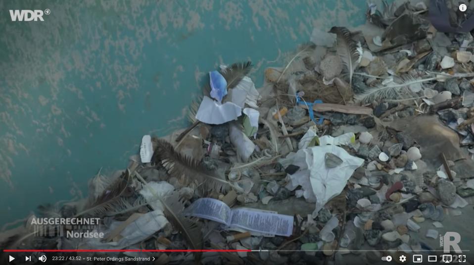 Plastikmüll in der Bagger-Wanne