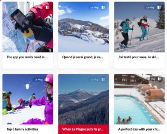 Skigebiet in Frankreich: La Pagne-Internetseite