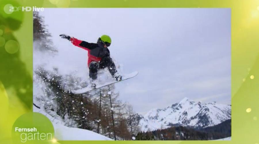 Der begeisterte Skifahrer und Snowboarder Leo Webel erkennt die Pistenpläne von zirka 200 europäischen und weltweiten Skigebieten allein anhand der Pistenverläufe und Lift-Strecken. Sein fotografisches Gedächtnis beweist der 19-Jährige am 12. September live beim ZDF-Fernsehgarten im Rahmen einer Wette, die der vielseitig interessierte Teenager locker gewinnt. Foto: ZDF-Fernsehgarten vom 12.09.2021,