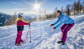 Winterspaß für die Familie mit Kindern in der Ferienregion Salzburger Lungau